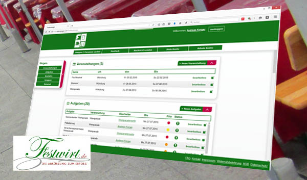 festmanager programm software organisation