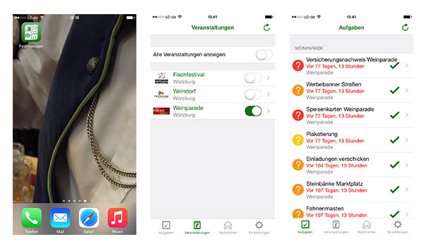 app festmanager organisation
