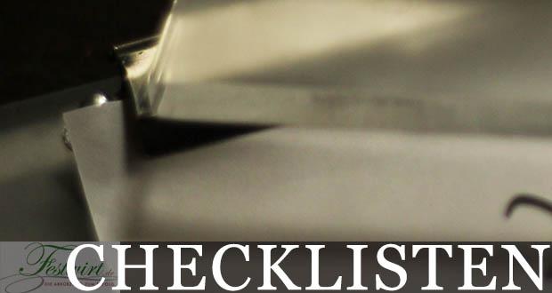 Checklisten und TODO